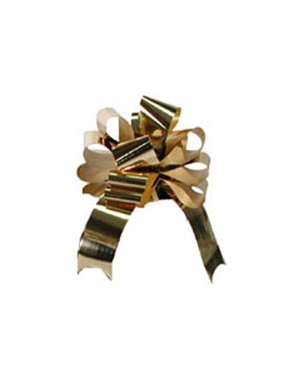 2 Inch Metallic Gold Pull Bows x20