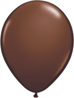 "11"" Chocolate Brown Latex Balloons 100pk"