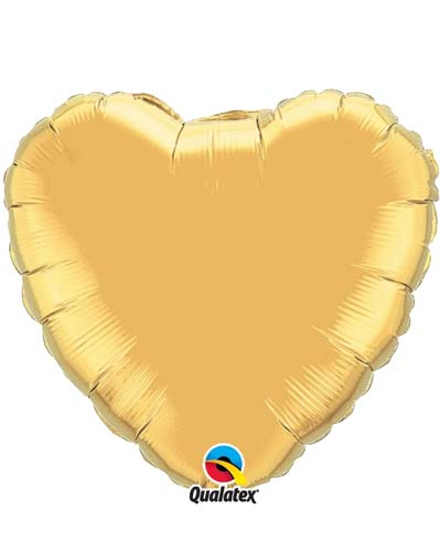 "36"" Gold Heart Foil Balloon"