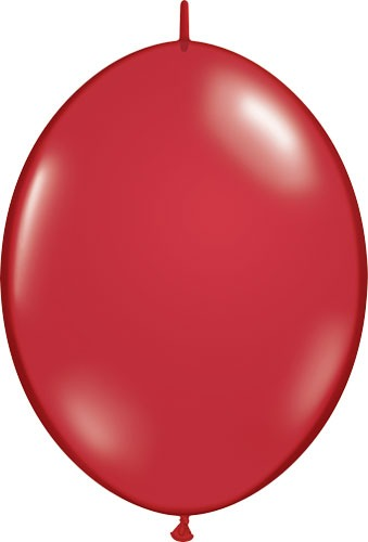 "6"" Ruby Red Quick Link Latex Balloons 50pk"