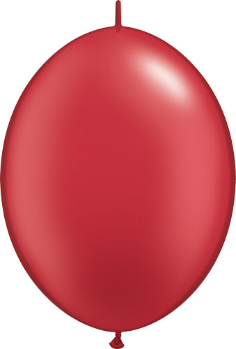 "6"" Pearl Ruby Red Quick Link Latex Balloons 50pk"