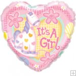 "18"" Soft Pony Girl Foil Balloons"