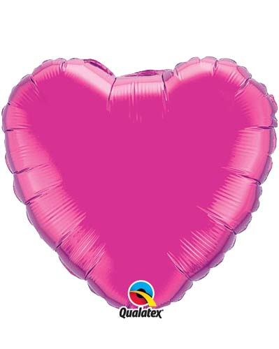 "9"" Magenta Heart Foil Balloon"