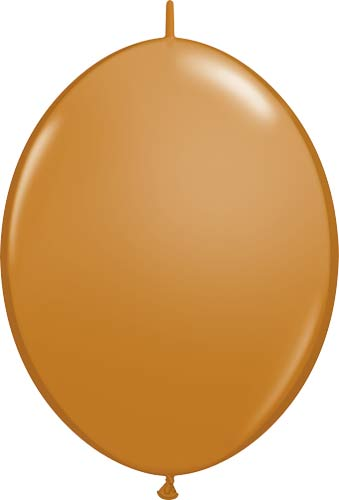 "12"" Mocha Brown Quick Link Latex Balloons 50pk"