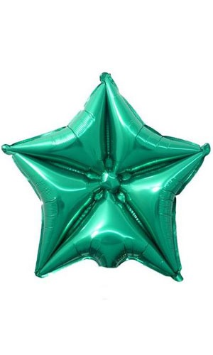 "20"" Green Quilted Star Balloon"