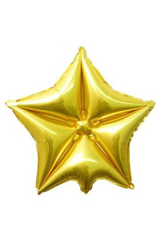 "20"" Gold Quilted Star Balloon"