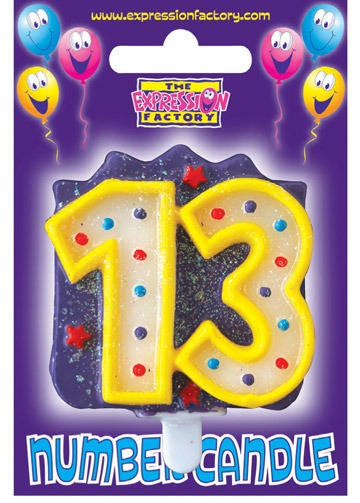 Number Candle Age 13 (Pack Of 6)