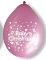 "10"" Christening Girl Latex Balloons 6 Packs Of 10"