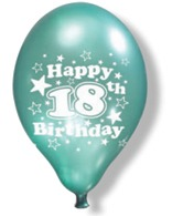 "11"" Luxury Happy 18th Birthday Balloons 6 Packs Of 6"