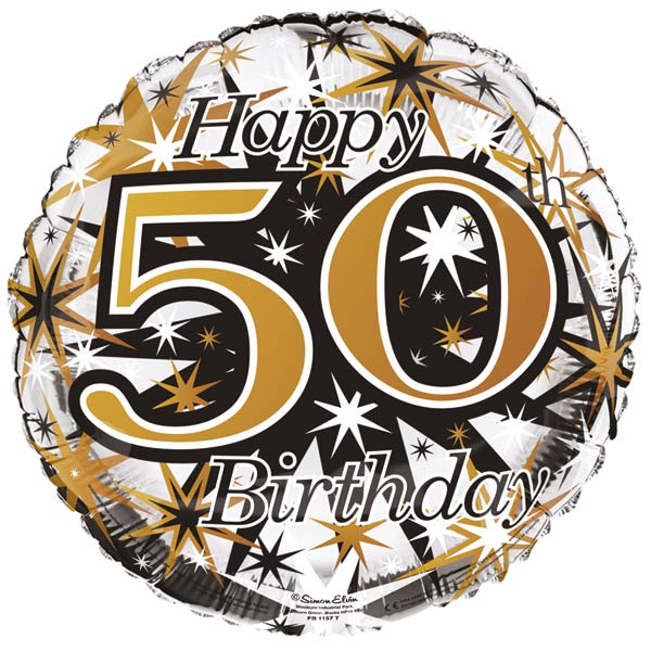 18 Happy 50th Birthday Male Foil Balloons
