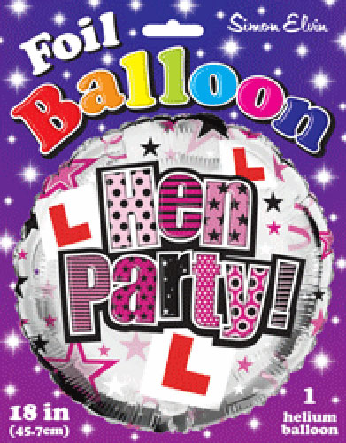 "18"" Hen Party Foil Balloons"
