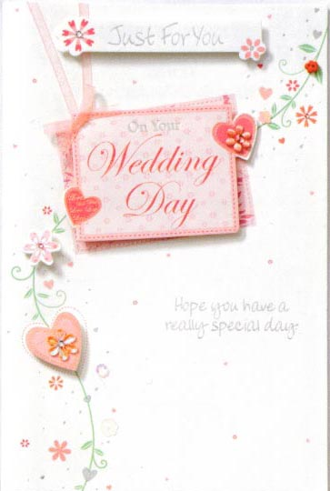 Wedding Day Greeting Cards x6
