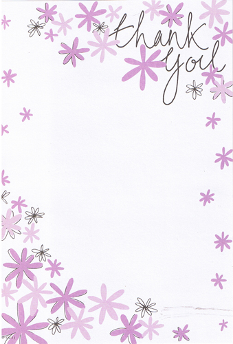 Floral Thank You Hanging Pads x20