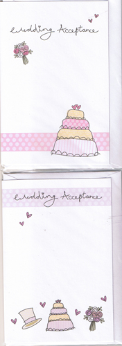 Wedding Day Acceptance Cards x24