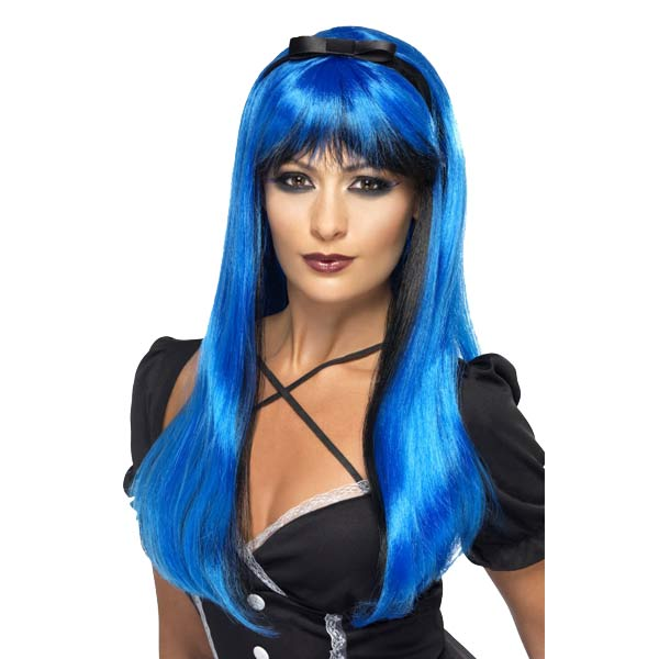 Blue Over Black Bewitching Wig