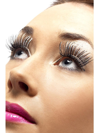 Silver And Black Holographic Eyelashes x6