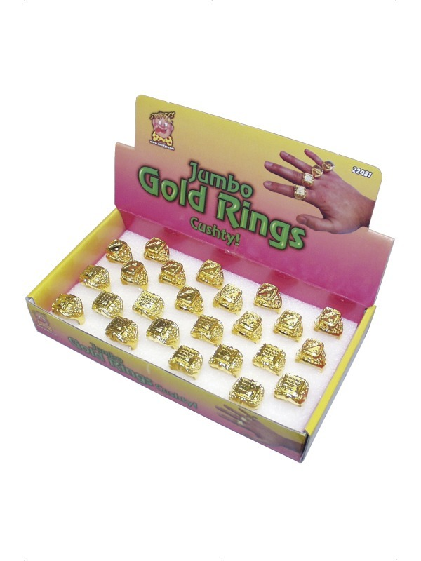 Jumbo Gold Assorted Rings x24