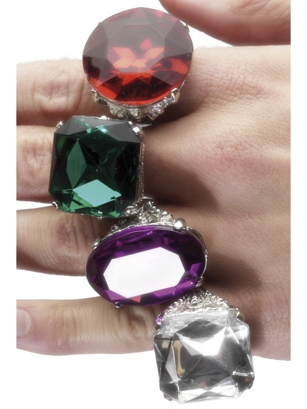 Multi Colour Assorted Rings x24
