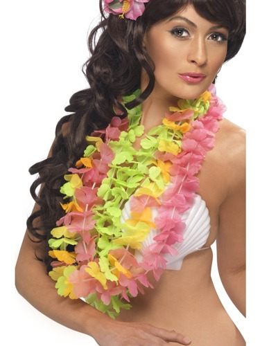 Pack Of 3 Assorted Colours Hawaiian Lei