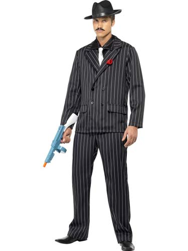 Black And White Zoot Suit Male Fancy Dress Costumes