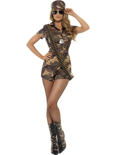 Sexy Army Girl Fancy Dress Costumes