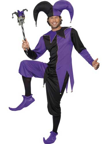 Medieval Jester Male Fance Dress Costumes Medium Only