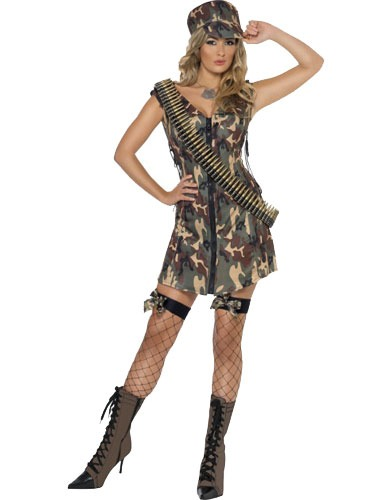 Fever Army Girl Fancy Dress Costumes