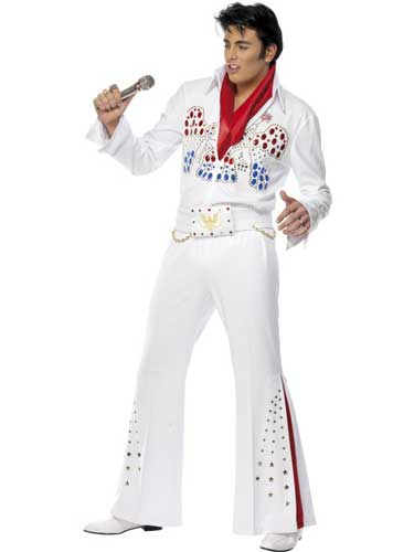 Officially Licensed Elvis American Eagle Fancy Dress Costumes