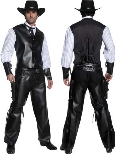 Authentic Wester Gunslinger Male Fancy Dress Costumes