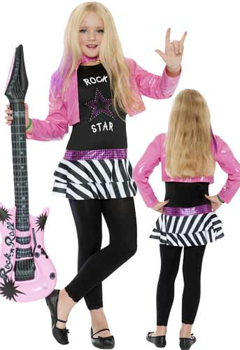 Girls Rock Star Glam Costume