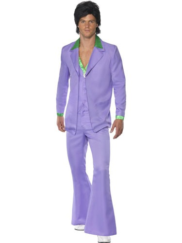 1970s Lavender Mans Suit Fancy Dress Costumes