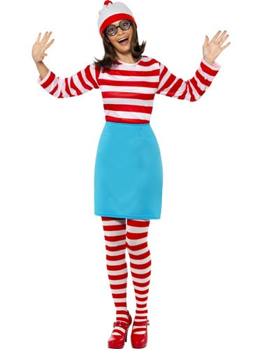 Officially Licensed Wheres Wally Female Fancy Dress Costumes