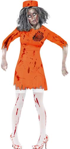 Zombie Death Row Diva Halloween Costume
