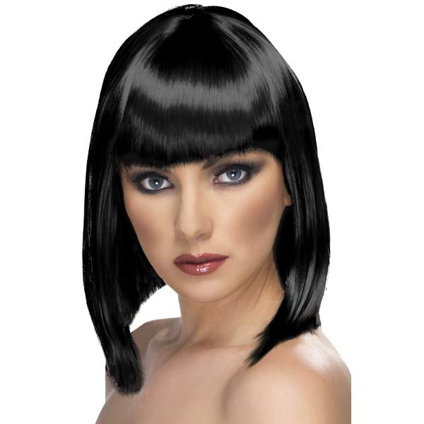 Black Glam Wigs With Fringe
