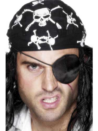 Black Deluxe Pirate Eyepatch