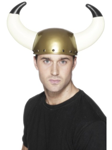 Gold Viking Helmet