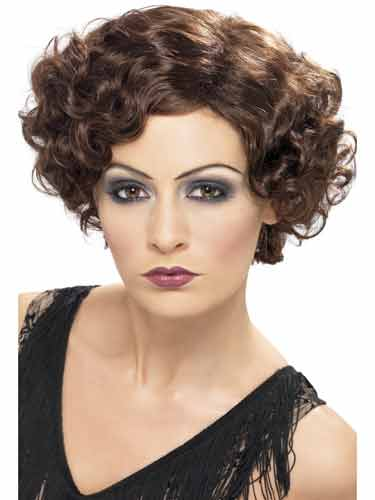 1920s Brown Flirty Flapper Wigs