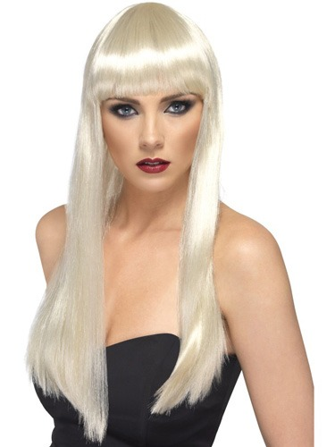 Blonde Beauty Wigs With Fringe