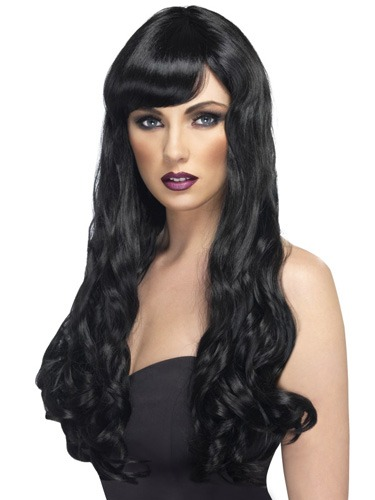 Lond Black Desire Wigs With Fringe