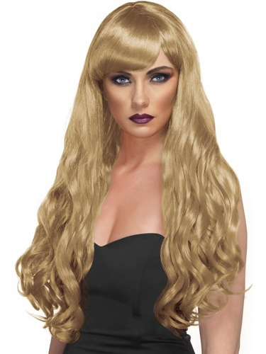 Long Blonde Desire Wigs With Fringe