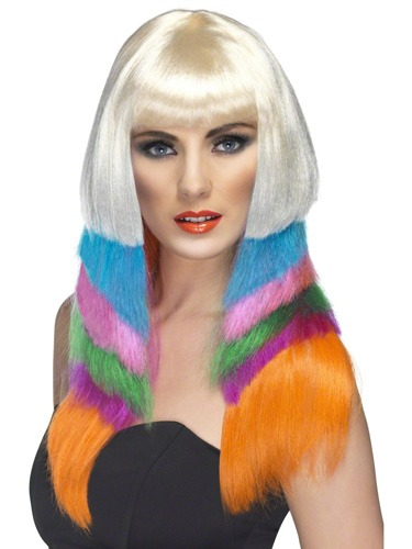 Neon Starlet Layered Wigs