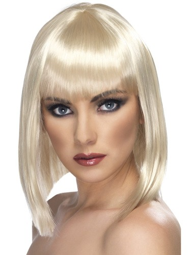 Blonde Glam Wigs With Fringe