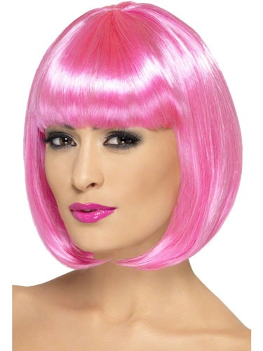 Pink Partyrama Lady Wigs
