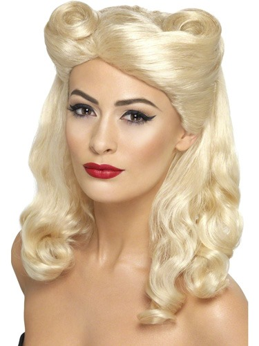 40's Pin Up Blonde Wig