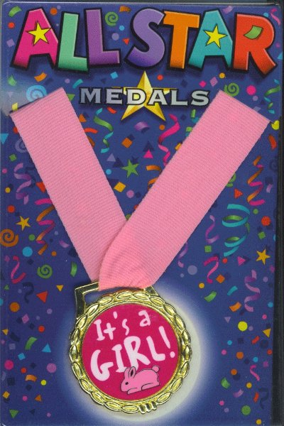 Its A Girl Medal