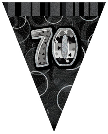 70th Happy Birthday Flag Banner