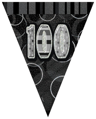 100th Happy Birthday Flag Banner