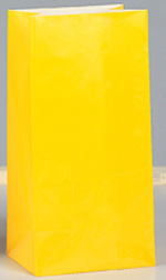 Yellow Party Paper Bags 12pk