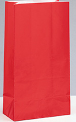 Ruby Red Paper Party Bag 12pk