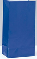 Royal Blue Paper Party Bag 12pk